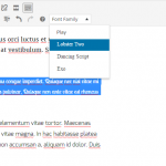 How to add Fonts to WordPress TinyMCE Editor