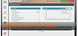 Customizing Admin Theme OpenCart