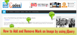 How to Add and Remove Mark on Image by using jQuery