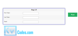 Simple Form Slider for Step by Step Form Wizard
