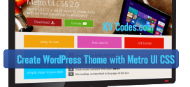 Create WordPress Theme with Metro UI CSS