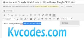How to add Google WebFonts to WordPress TinyMCE Editor