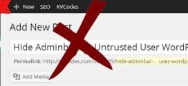 Hide WordPress Adminbar for Untrusted User
