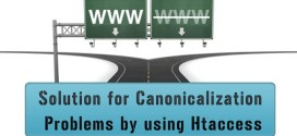 Solution for Canonicalization Problems by using Htaccess