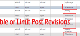 Disabling or Limiting WordPress Post Revisions