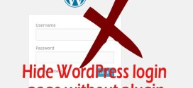 Hide WordPress login page without plugin