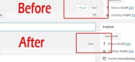 Remove Visual Tab from your WordPress Post editor