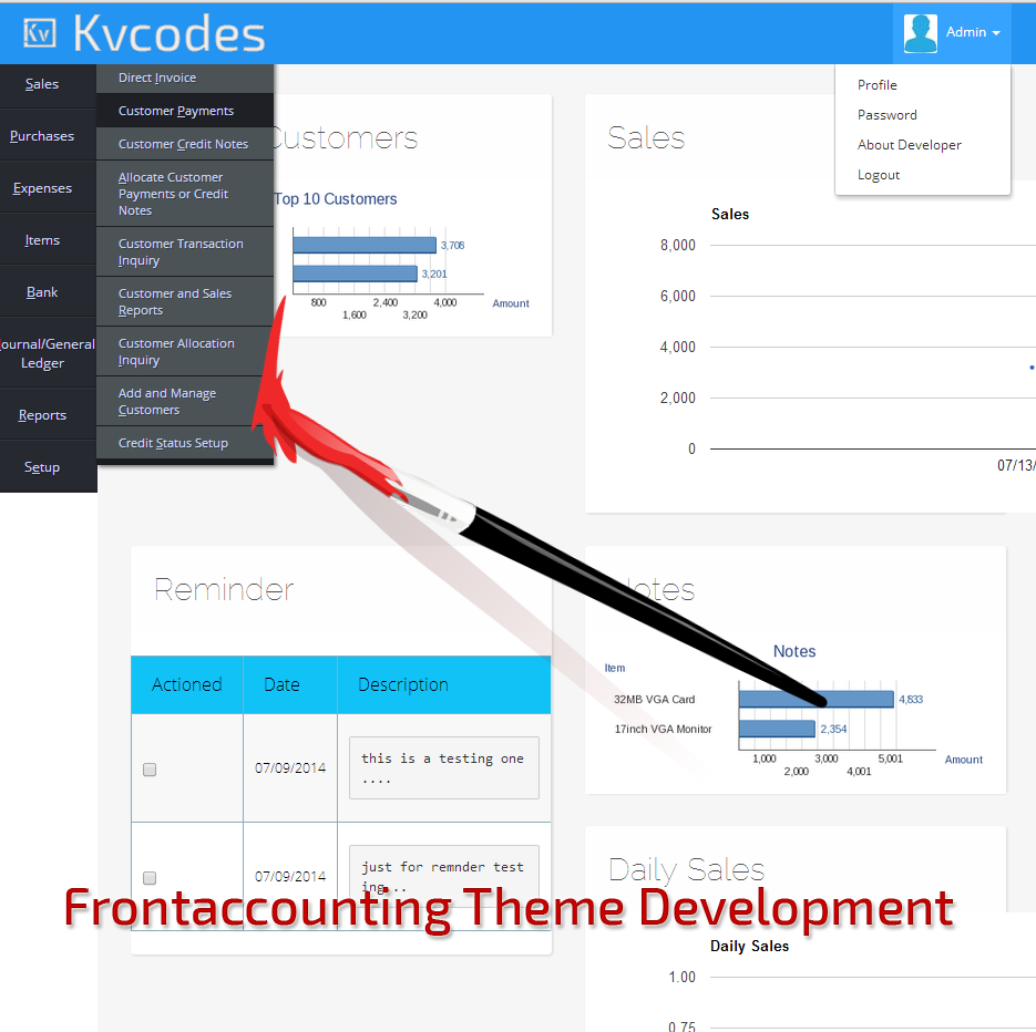 Frontaccounting-Theme-Development