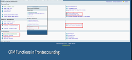 CRM Functions in Frontaccounting
