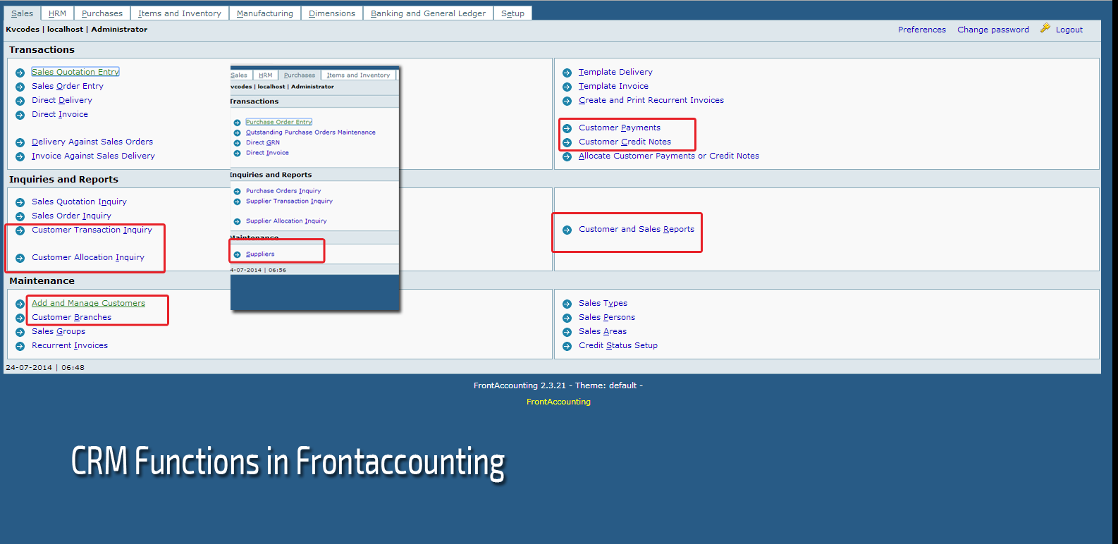 crm-frontaccounting'