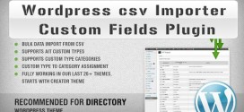WordPress csv Importer Custom Fields Plugin