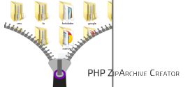 How to zip a whole folder using PHP