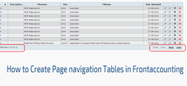 How to Create Page navigation Tables in Frontaccounting
