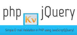 Simple E-mail Validation in PHP using JavaScript(jQuery)