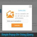 Simple Popup Div Using jQuery