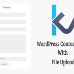 WordPress Contact Form With File Upload