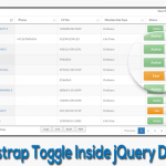 Bootstrap Toggle Inside jQuery DataTable