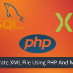 Generate XML File Using PHP And MySQL