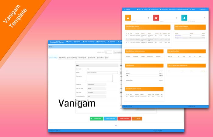 Vanigam – A Premium FrontAccounting Theme