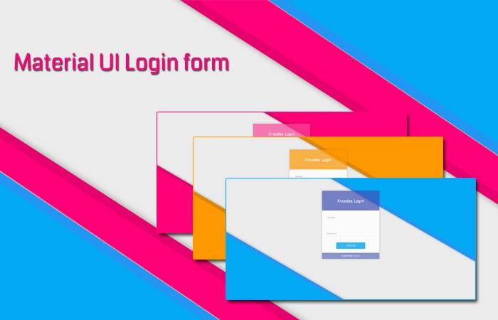 Material UI Login Page Design