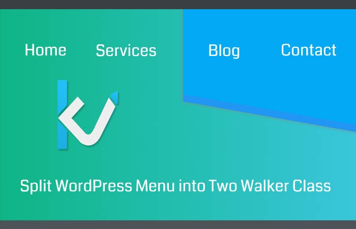 How to Split WordPress Menu into Two Walker Class