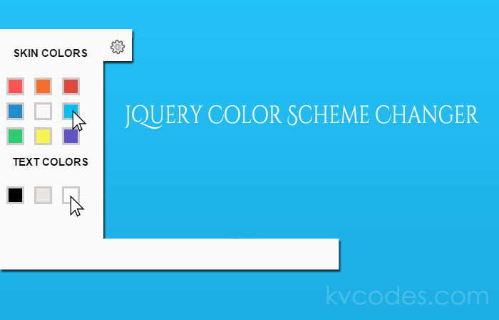 jQuery Color Scheme Changer