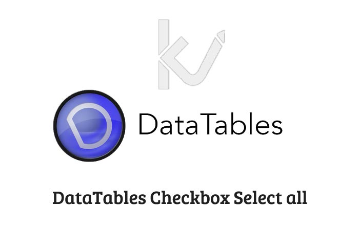 DataTables Checkbox Select all