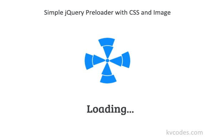 Simple jQuery Preloader with CSS and Image
