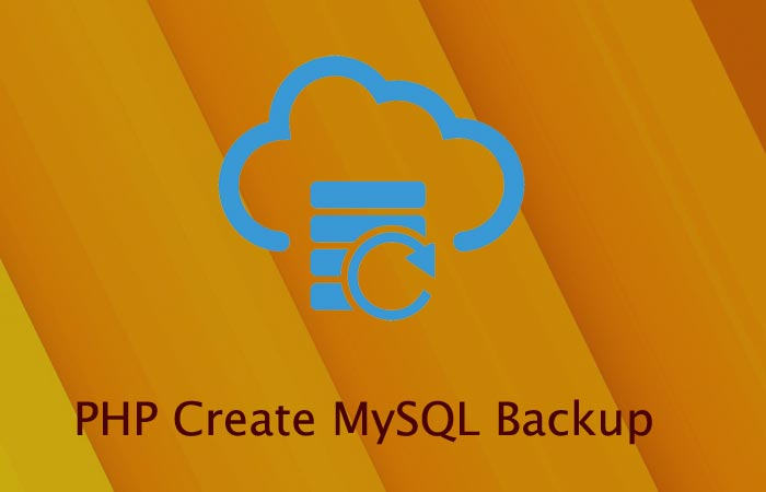 PHP Create MySQL backup