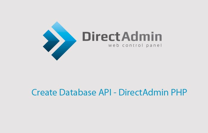 Create Database API – DirectAdmin PHP