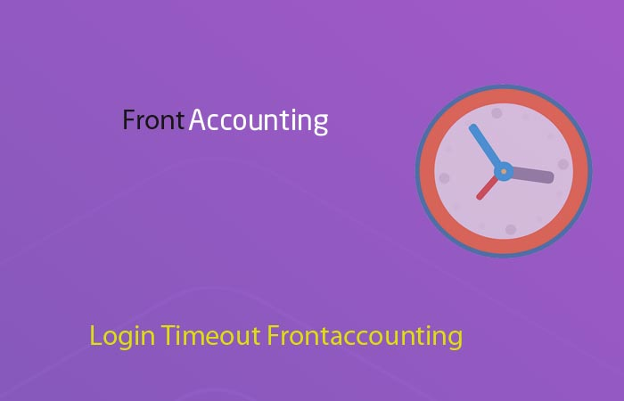 Login Timeout Frontaccounting