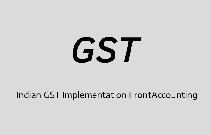 Indian GST FrontAccounting