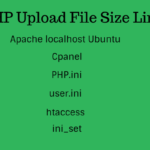 PHP Upload File Size Limit
