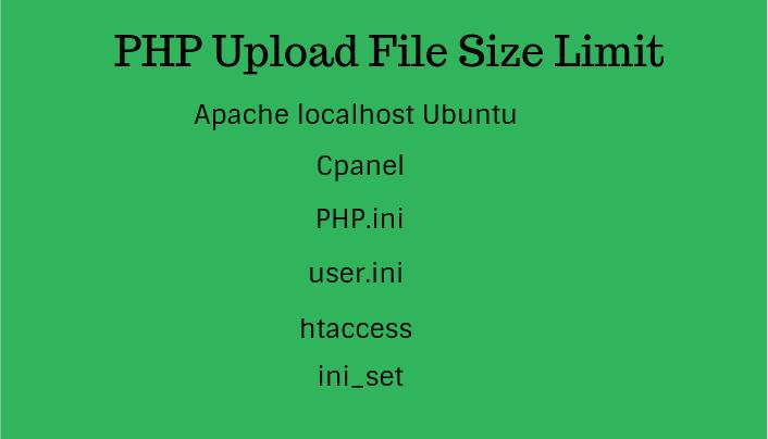 PHP Upload File Size Limit