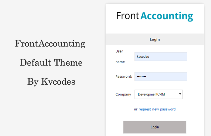 Simple – A Free FrontAccounting Theme